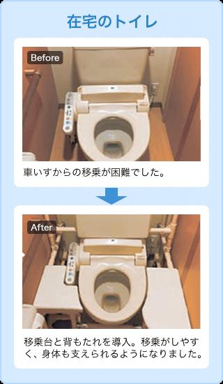 在宅のトイレ