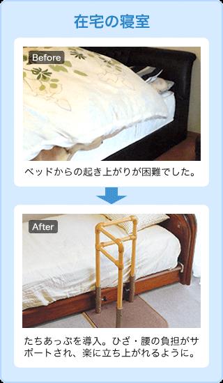 在宅の寝室