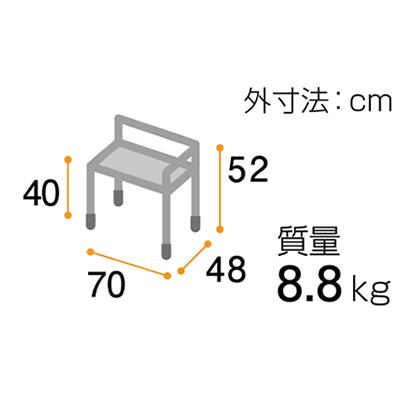 トランスファーシート(右用) ターンテーブルタイプ アジャスター付<br />  写真その2