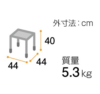 シャワーいす F型 ターンテーブルタイプ(大)<br />  写真その2