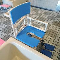 脱衣室から座位入浴までを安全に行いたい