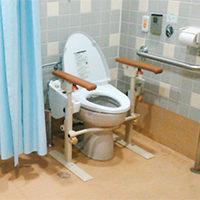 トイレでの座位保持と立ち上がり補助がほしい