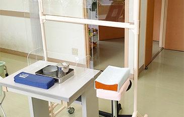 診察や採血時の飛沫対策を行いたい(問題解決のポイント)